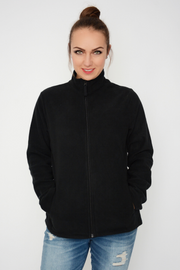 Black Soft Lightweight Fleece Jacket