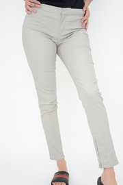 French Connection Ecru Coated Skinny Leggings