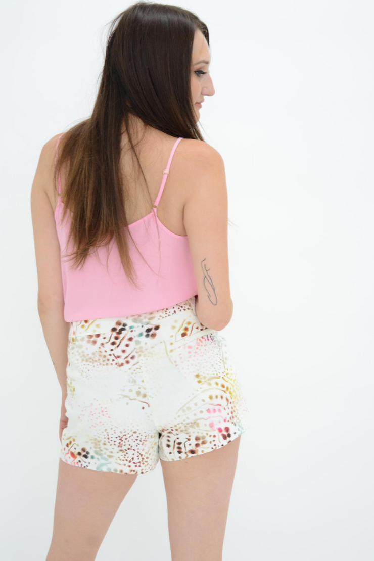 French Connection Brule Cream Tiger Print Hot Pants