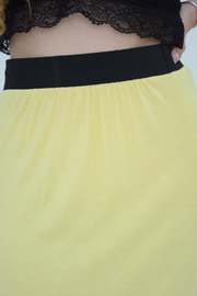 Lemon Jersey Maxi Skirt