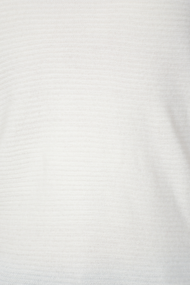 Cream Fine Ribbed Stripe Lightweight Jumper