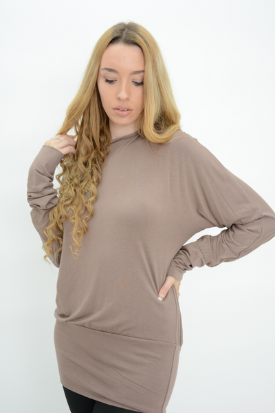 Cappuccino Jersey Longline Casual Top
