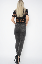 Charcoal High Rise Skinny Stretchy Jeggings