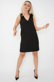 French Connection Black Bow Scuba Shift Dress