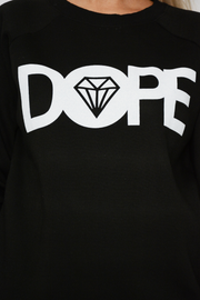 Black Dope Logo Long Sleeve Sweater