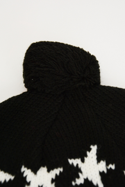 Black Star Pint Knitted Pom Pom Hat