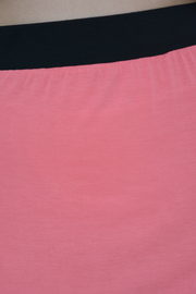 Coral Jersey Pencil Skirt