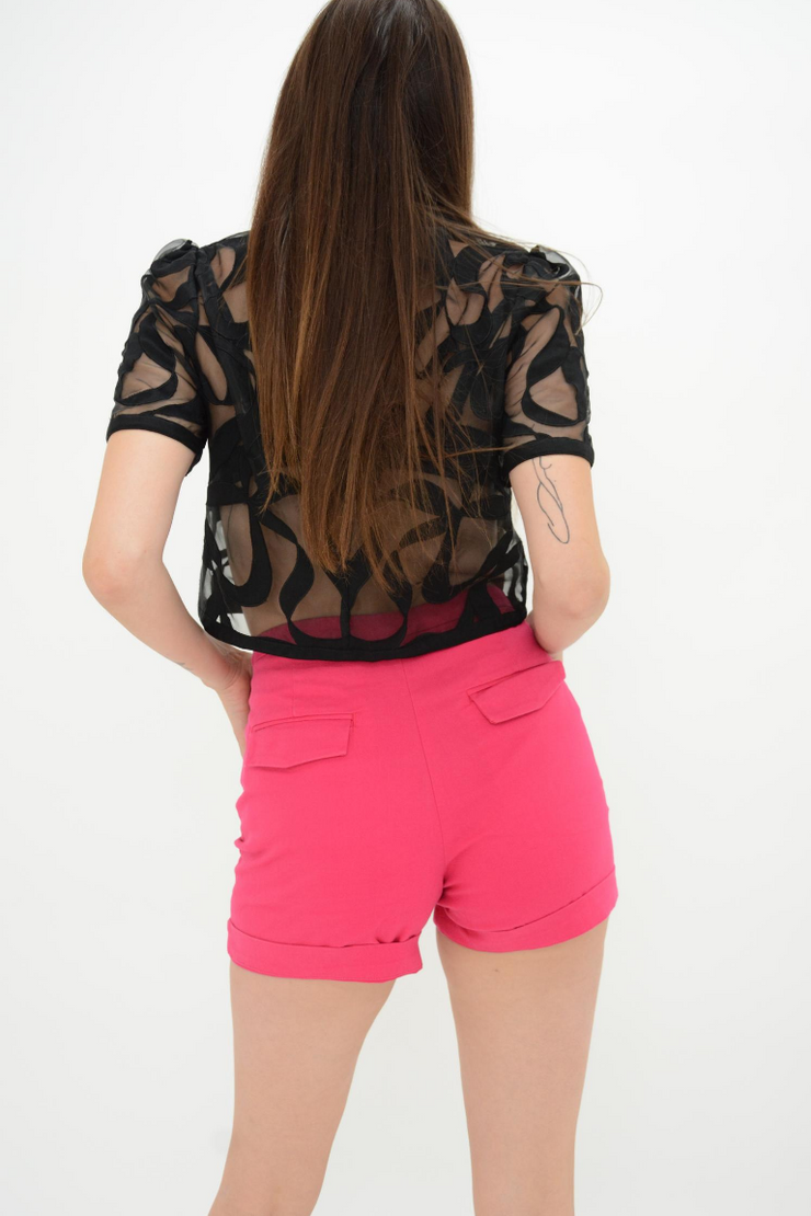 French Connection Passion Pink Tailored Resort Shorts