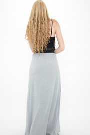 Grey Jersey Casual Maxi Skirt