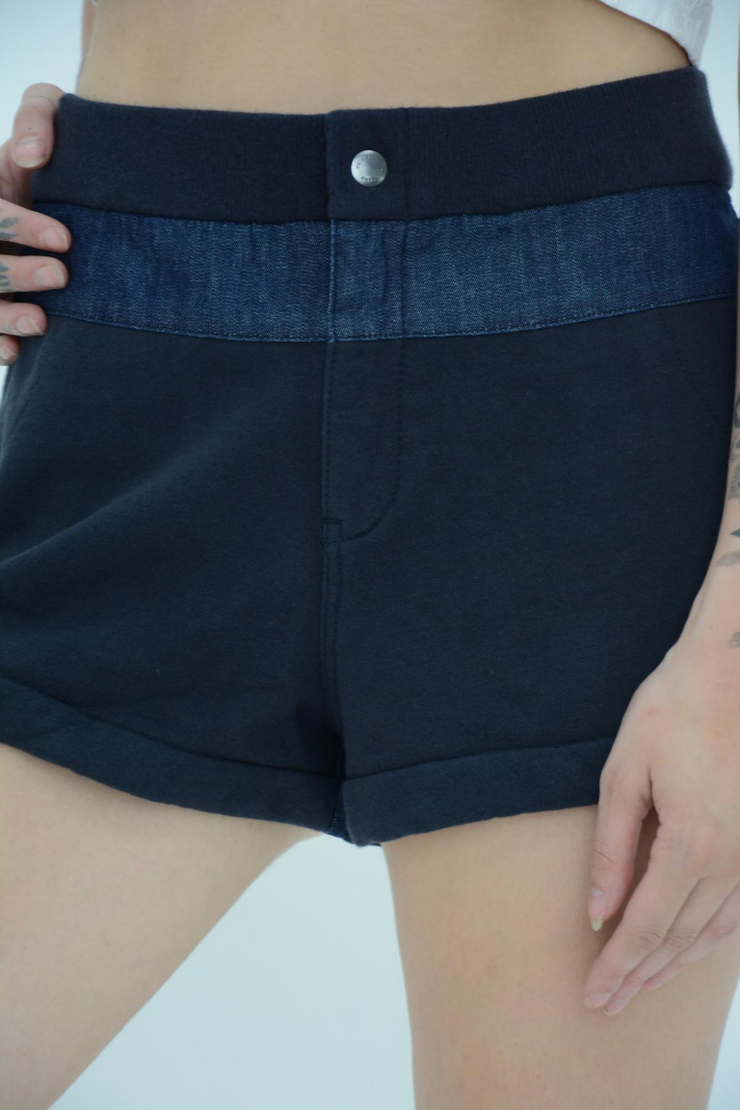 French Connection Dark Indigo Mini Shorts