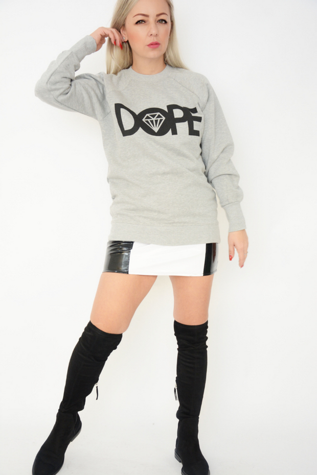 Light Grey Dope Logo Jersey Sweater