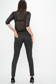 French Connection Black Coated Skinny Leggings