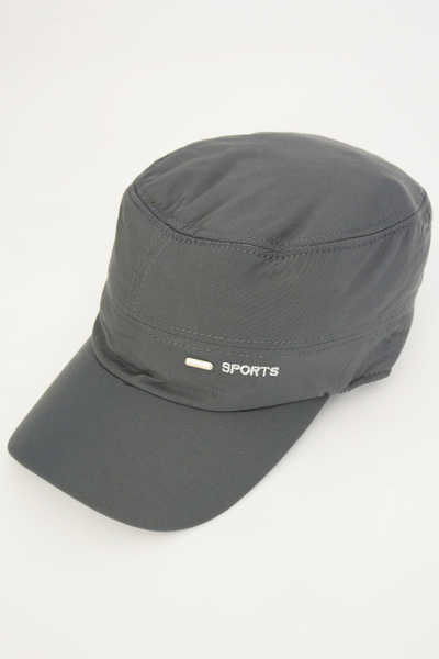 Grey Sports Logo Baseball Cap