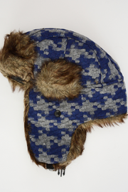 Blue Fur Trapper Hat