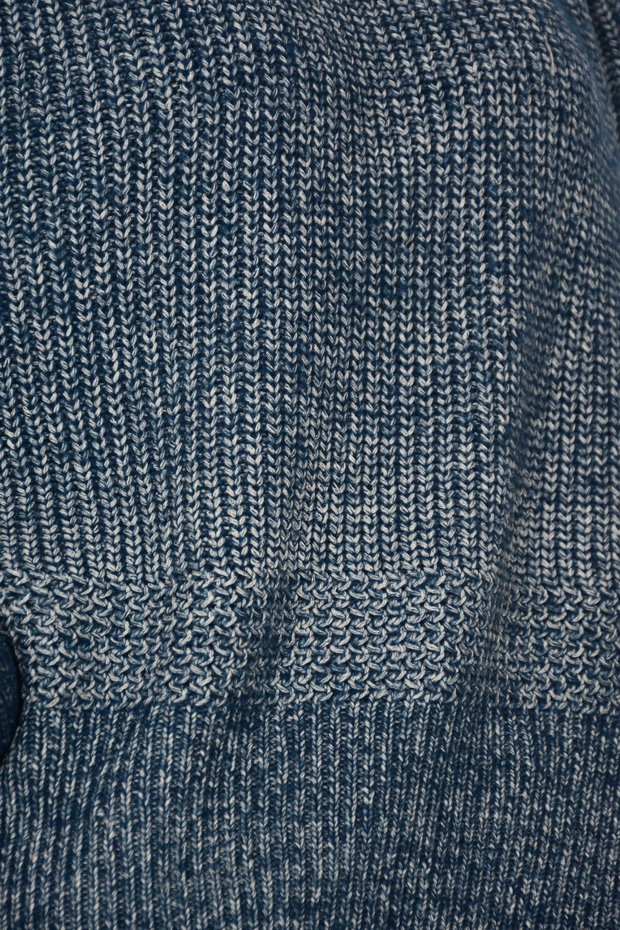 French Connection Blue Chunky Knit Split Side Jumper
