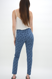 French Connection Bleach Indigo Pasadena Floral Skinny Jeans
