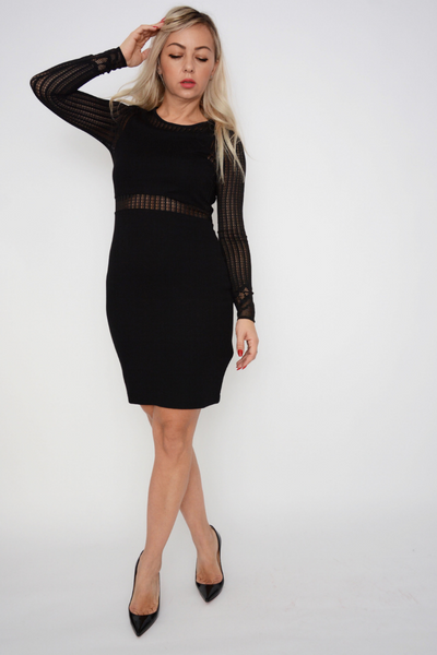 French Connection Black Bodycon Fitted Dress