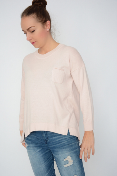 French Connection Blush Baby Soft Knit Pocket Jumper