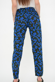French Connection Blue Scatter Floral Crepe Harem Trousers