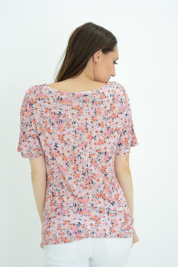FRENCH CONNECTION PINK DAISY TOP