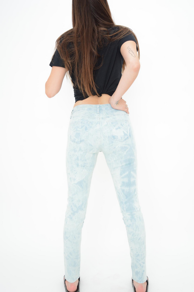 French Connection Bleach Tie Dye Power Stretch Skinny Jeans