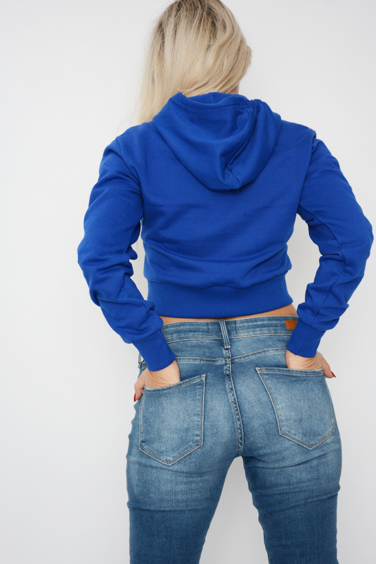 Royal Blue Jersey Hoodie Sweater