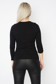 Black Fitted Basic Long Sleeve Top