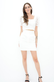 FRENCH CONNECTION WHITE MINI SKIRT