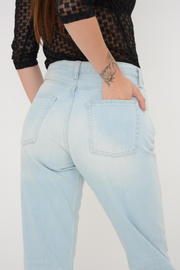French Connection Bleach Straight Leg Boyfriend Jeans