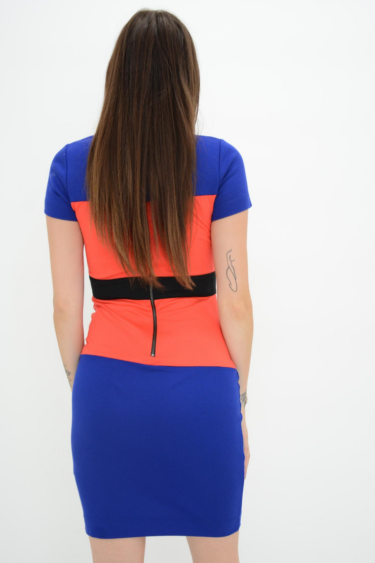 French Connection Colour Block Fitted Bodycon Dress