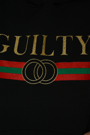 Black Guilty Logo Hood Sweater