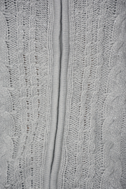 Grey Shimmer Zip Cable Knit Cardigan