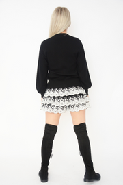 Black Baby Soft Knit Bell Sleeve Jumper