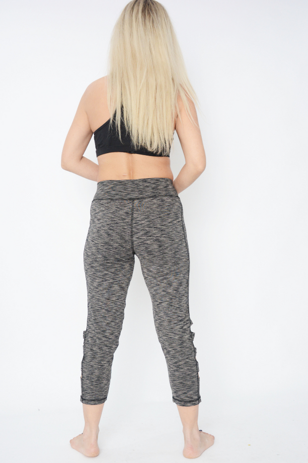 Grey Cropped Fitness Sculpt Leggings