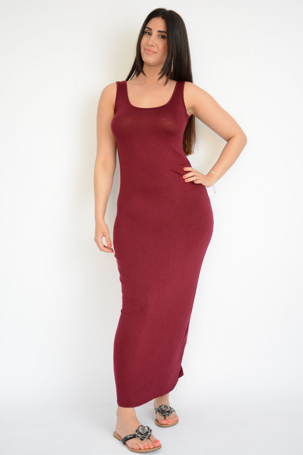 Tube Jersey Casual Maxi Dress