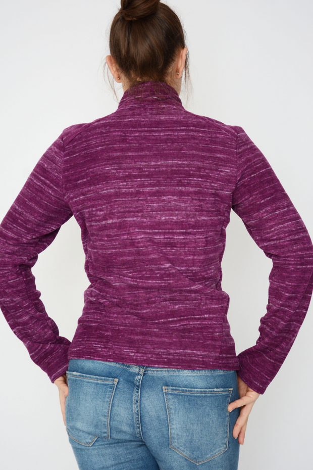 Purple Lightweight Soft Fleece Zip Jacket