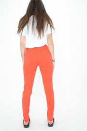 French Connection Lily Red Zip Super Skinny Jeans
