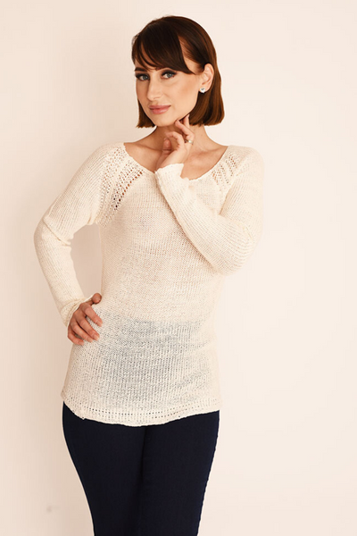 Cream Soft Knit Jumper