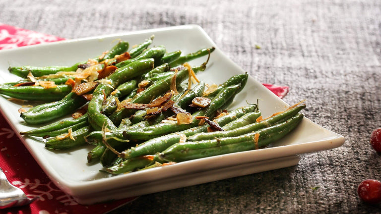 Green Beans with Garlic & Onion