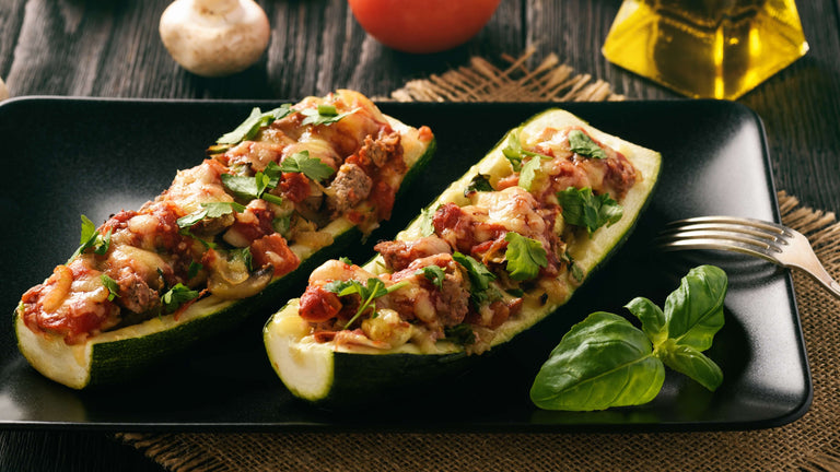 Quick & Easy Zucchini Boats