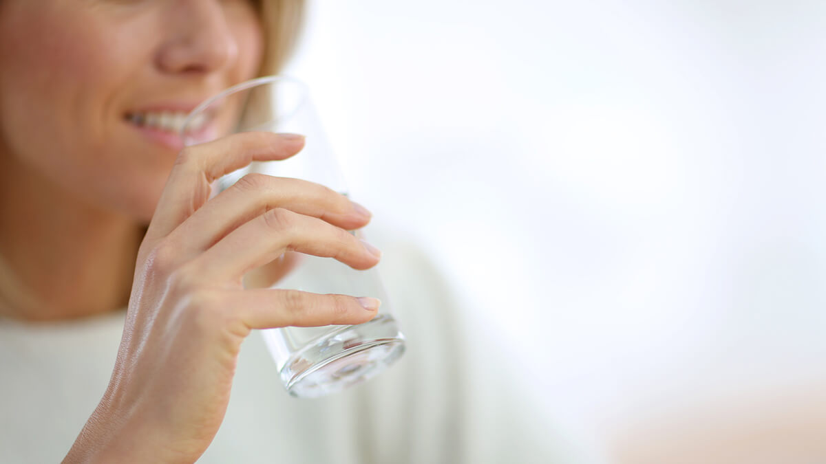 Drinking water can help stimulate your metabolism in Menopause