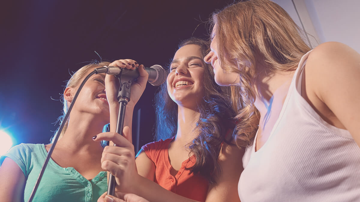 How about going to karaoke on your next night out with the girls?