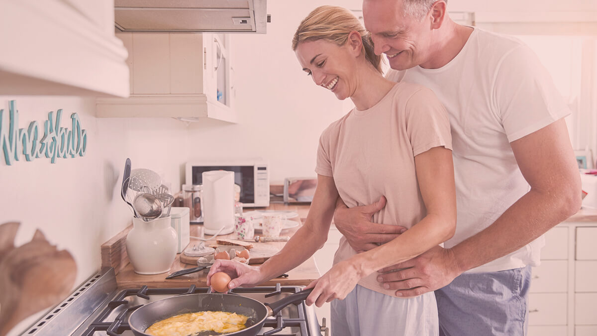 Make this day special by cooking a meal with your partner