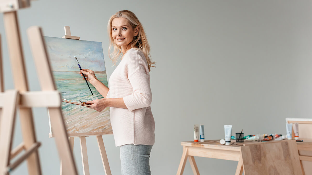 Pick up a new hobby during self-isolation like painting