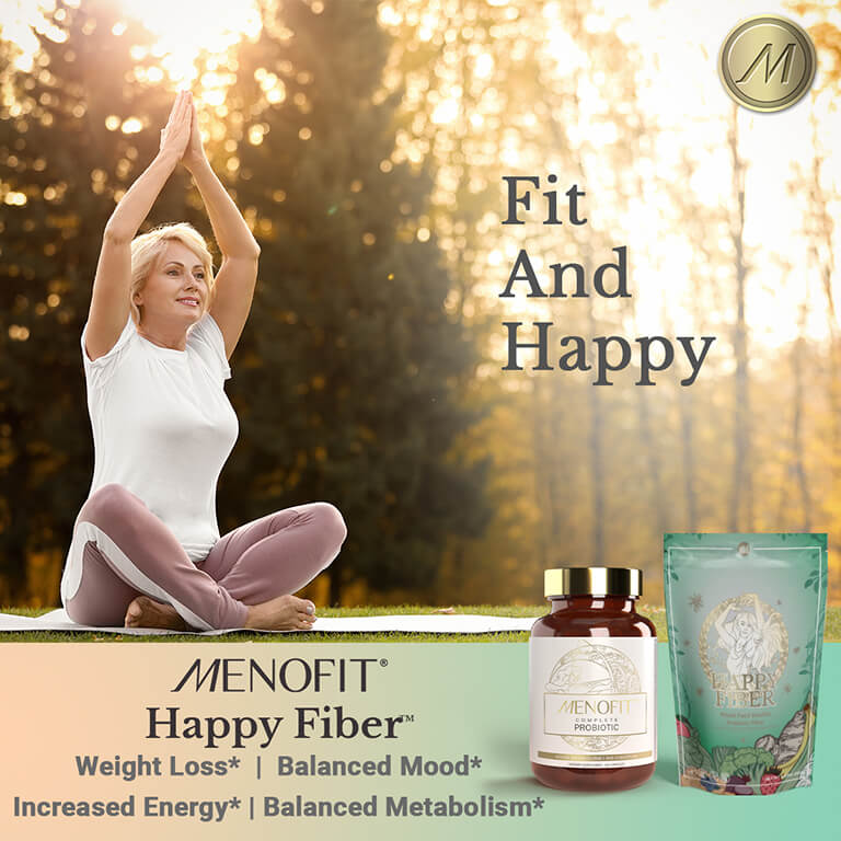 Fit and Happy Triple Fiber Supplement & Probiotic for Healthy Weight