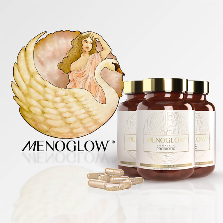 3-Pack MenoGlow Menopause Probiotic for Signs of Aging