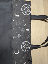 Load image into Gallery viewer, Large Pentagram Cat Tote