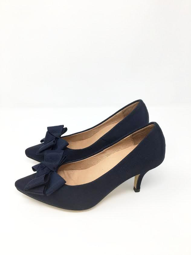 All Black Bow Pump - Cityhome