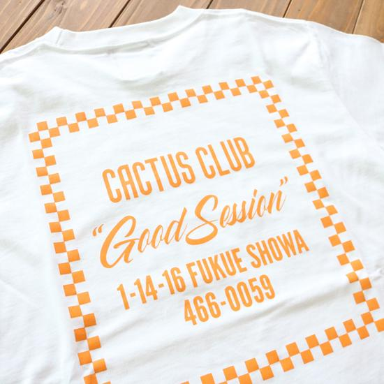Cactus Club Checker Store T-Shirt -- white