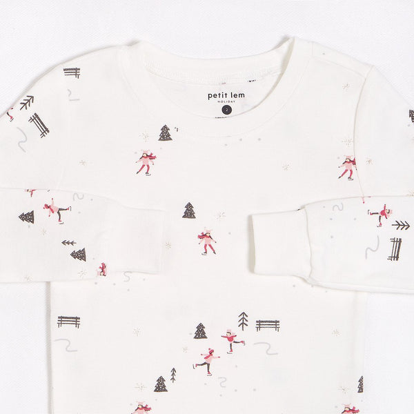 Petit Lem Holiday Skating Pajamas